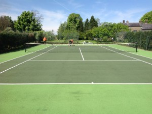 Refurbishing Mossy Tennis Court Surfaces