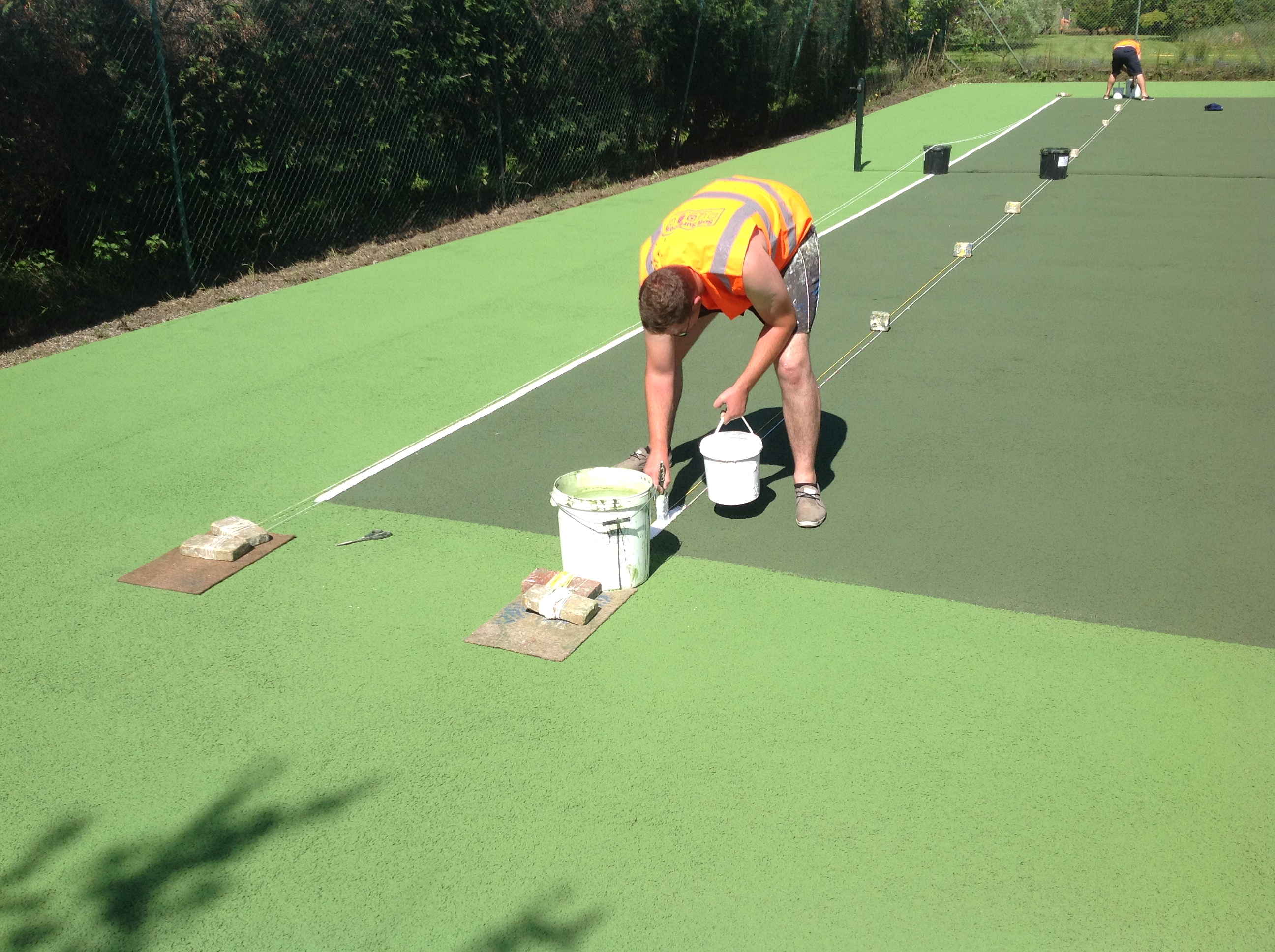 Tennis Court Painting Uk Tennis Courts Colour Coating