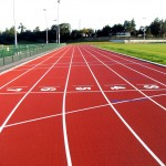 Polymeric Sports Track Installation