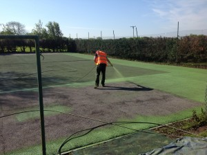 Tennis Court Colour Spraying Application