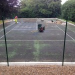 Pressure Washing and Recolouring Sports Surface