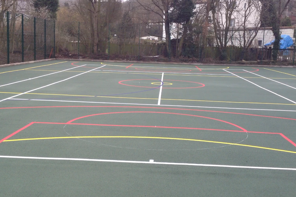 Muga services multi use games area for Sport court cost