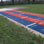 Red & Blue Ahletics Track