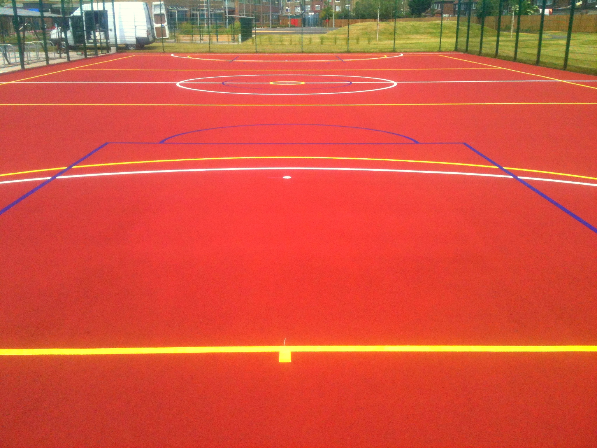 Basketball court painting basketball surface coatings for Basketball sport court cost