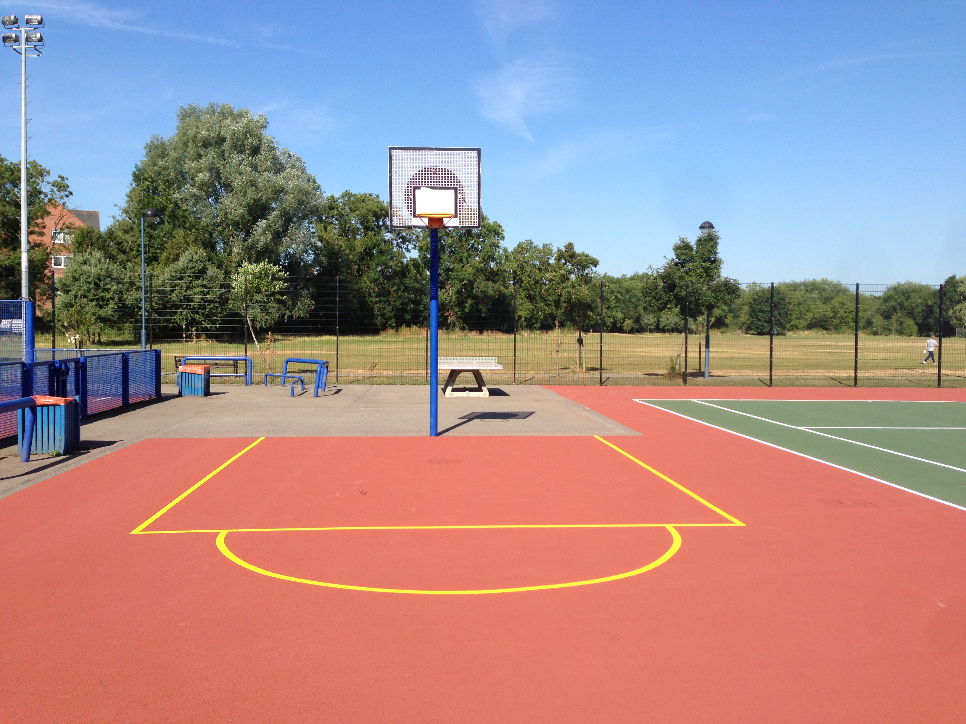 Macadam surfacing specification tarmac court designs for Basketball court installation cost