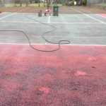 Tennis Court Cleaning Pressure Wash