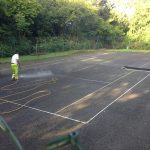 Tennis Courts Pressure Washing