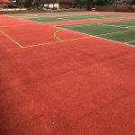 Colour Coated Tennis Court