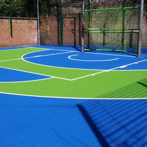Blue Green Basketball Court
