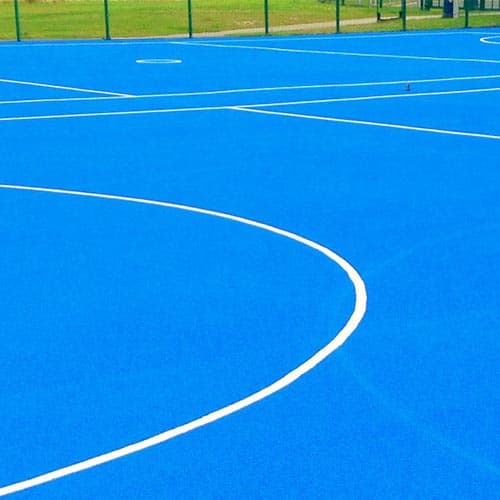 Netball Court with Lines